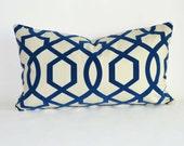 12 x 20'' Accent Pillow Decorative Pillow flocked Lattice Throw Pillow Cushion cover