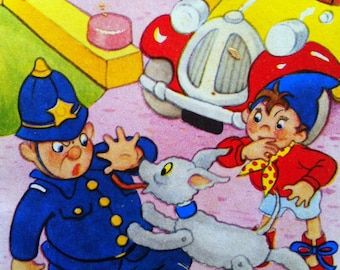 1958 NODDY and MR PLOD Color Print