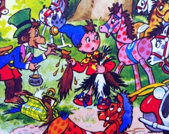 1957 NODDY and the ROCKING HORSES Color Print