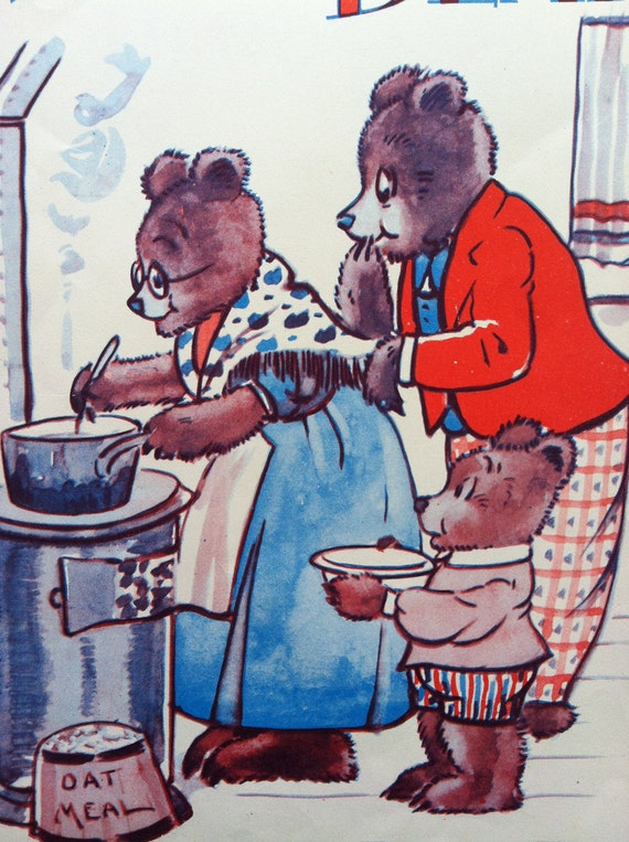 On HOLD 1930s THREE BEARS Print