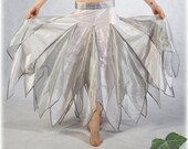 Bridal Faery Skirt - size M 2 - Isis - Ivory & silver -