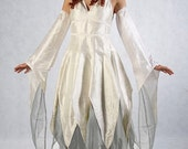 Ivory and Silver Pixie Maiden - Full outfit - Made to order