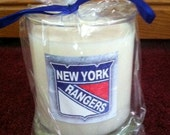 New York Rangers soy candle