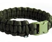 Olive Drab Eco Paracord Survival Bracelet, Choice of Size. 100% Profit Donation to World Wildlife Fund (WWF)