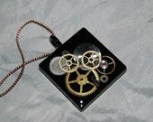 Clock Gears Steampunk Square