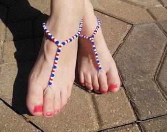 Patriotic Barefoot Sandals