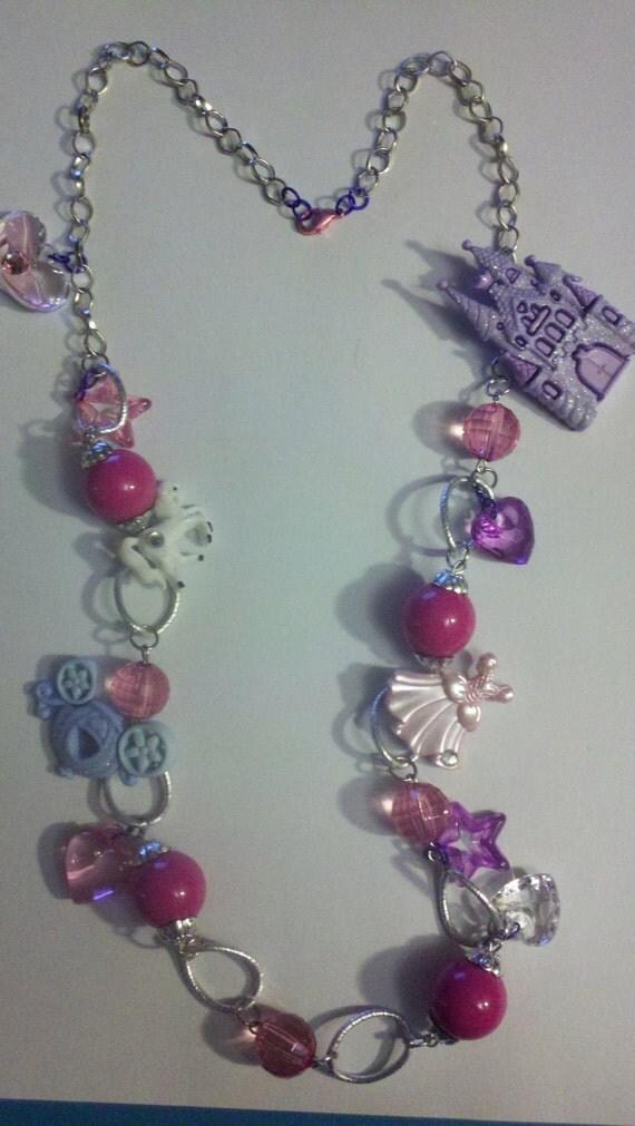 fairytale princess necklace,fairytale necklace,princess necklace,kawaii necklace
