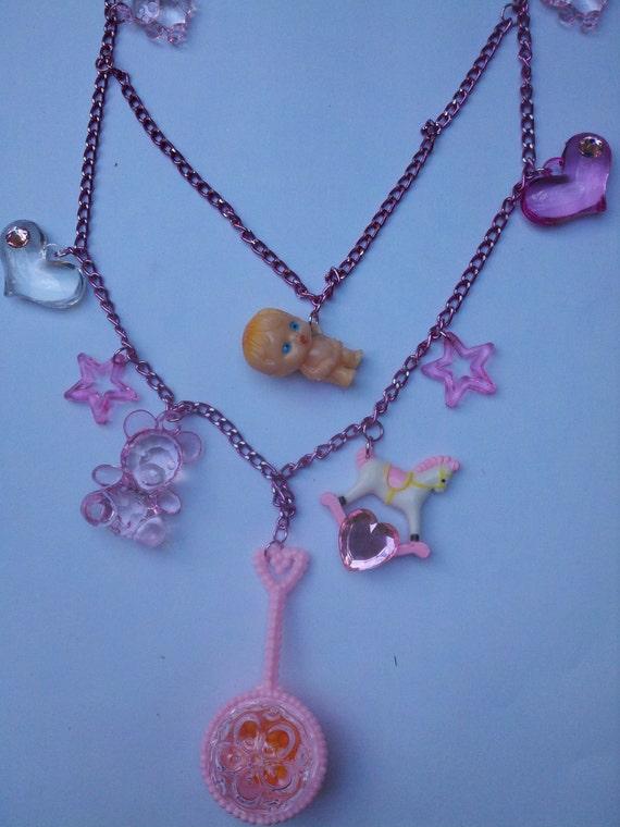 Sale was 25.00 now 15.00!! Kawaii,Kitsch ,Kewpie,Baby Necklace