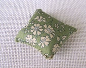 Liberty Pincushion size small...Vintage fabric, Heirloom style.