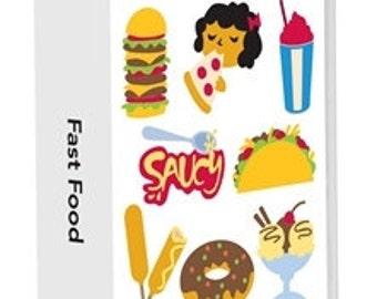 FAST FOOD -CRICUT Lite Cartridge -  New and Sealed  - Hard to FInd - Original with Keypad and Booklet