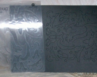 BLACK CATs - CUTTLEBUG EmBOSSING  FOLdER - 4x6 size -  A2 Folder - new - HALLOWEEN