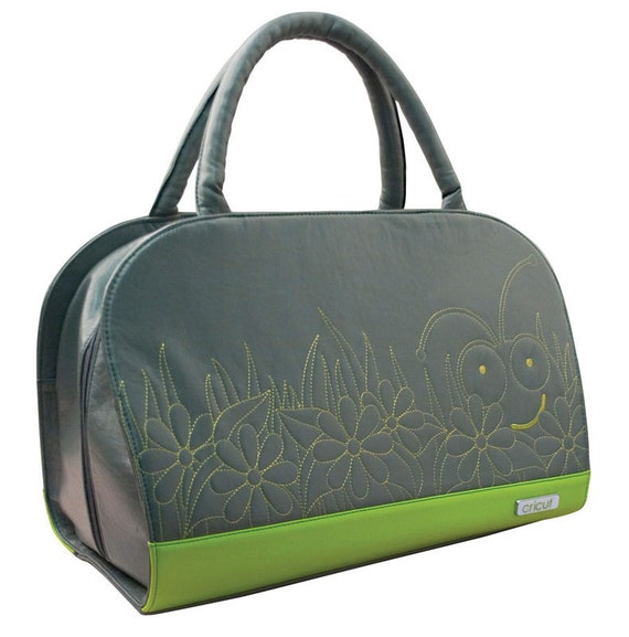 EMBROIDERed LEATHeR -TOTE  for CRICUT and CUTTLEBUG Machines with Shoulder Strap - Brand New