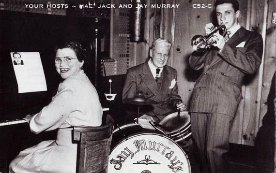 Vintage postcard jazz musicians 1940s