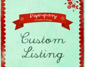 Reserved Custom Listing for Eftychia