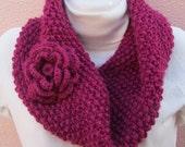 Hand Knit Cowl - Winter Accessories Winter Fashion Chunky Knit  Fall Fashion