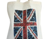 Union Jack cotton tote bag