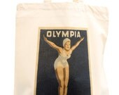 London 2012 cotton tote bag, Olympic swimmer, ideal swimming or sports bag