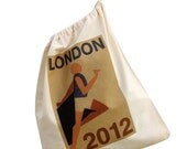 London 2012 cotton drawstring bag, athletic runner