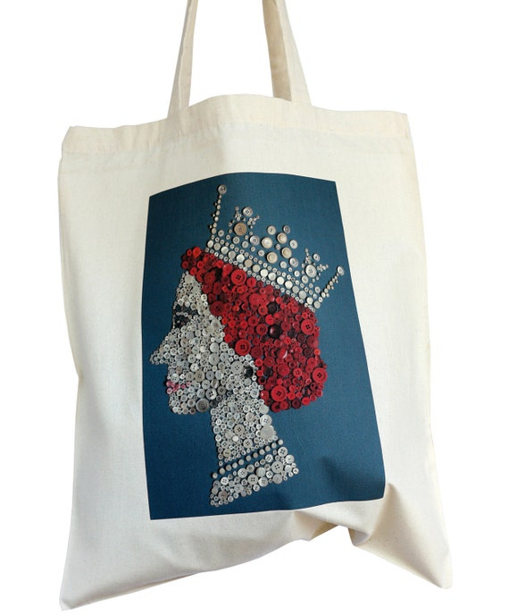 The Pearly Queen cotton tote bag