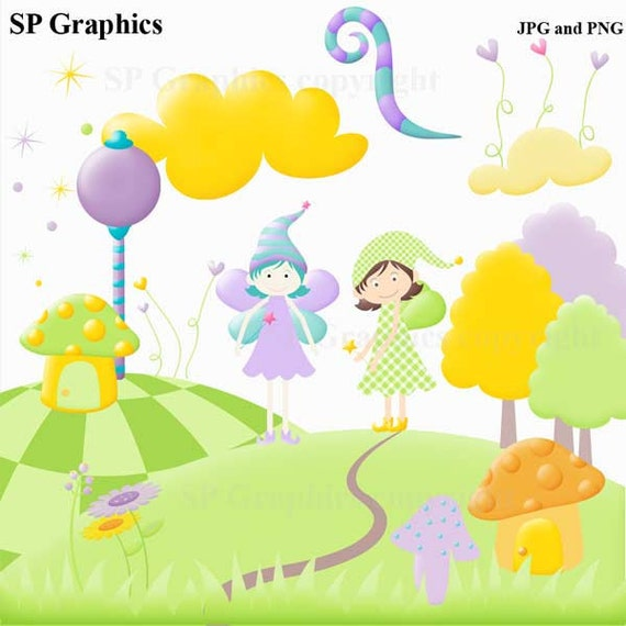Fairy Magic Clipart for cards, scrapbooking, invites, general craft work