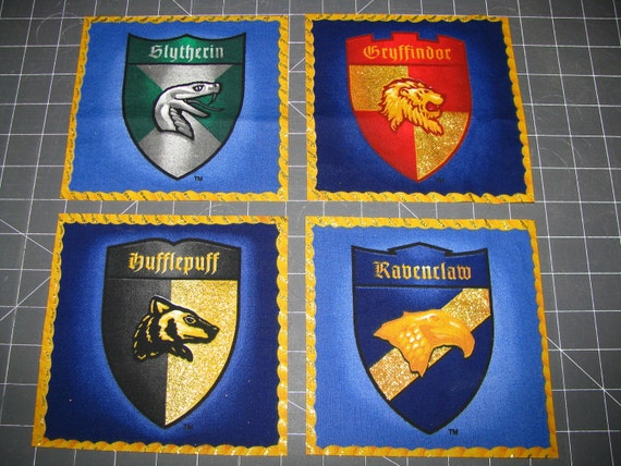 Harry Potter Hogwarts Four House Shields Set Out Of Print