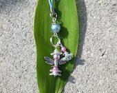 Cell phone charm Fairy blue