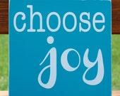 Choose Joy Wooden Inspirational Christian Sign Wall Art Typography Subway Art Painting