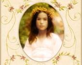 Dreamy Romantic Portrait, Fairytale, Maiden, Glowing, Photo, Fine Art Print, 8x10