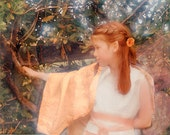 Girl Elf Fairy, Art, Child, Wings, Tender, Romantic Costume, Real Photo, 8x10