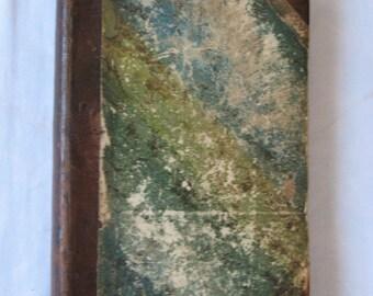 Antique 1835 German Christian Religious Book, der Christliche Hausfreund