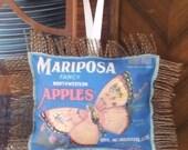 Vintage Butterfly/Apple Door Hanger