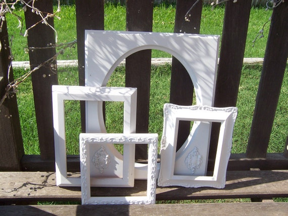 CLEARANCE Shabby Chic White Ornate Frames