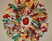Teacher Appreciation/End of School Year Fabric Wreath