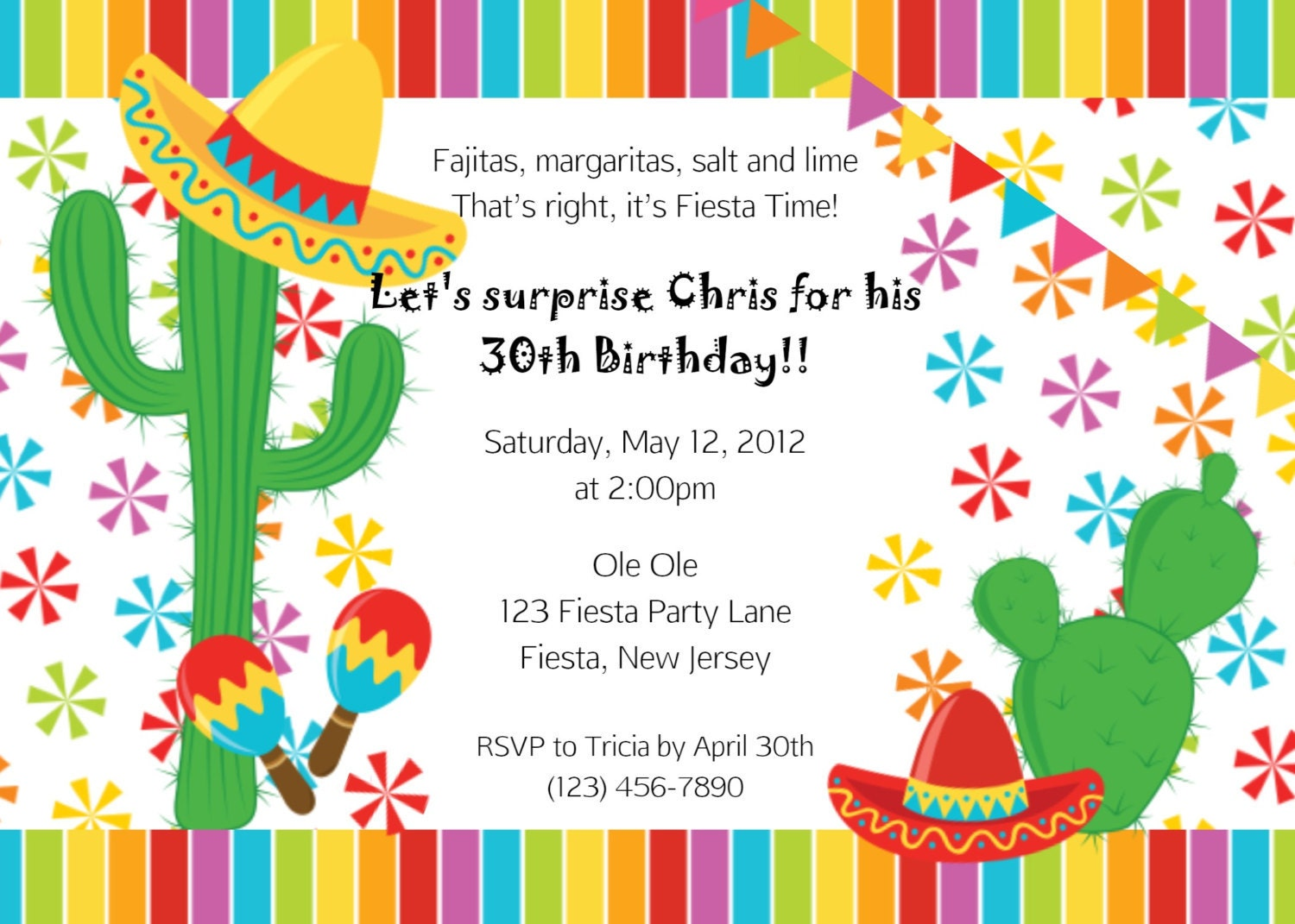 Mexican Party Invites with beautiful invitation design