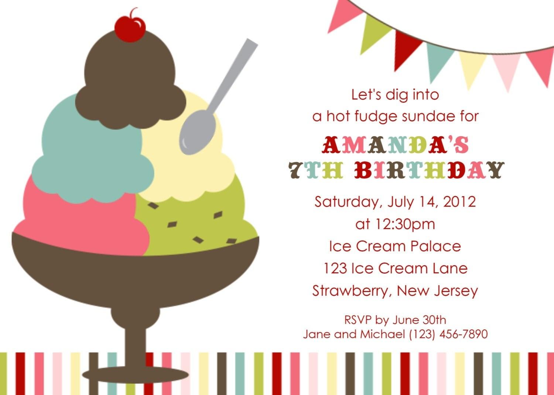 Ice Cream Social Invitation | feliciaday.us