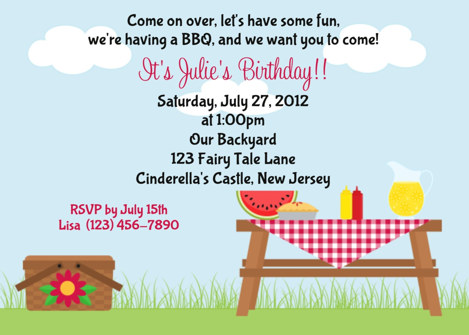 Blank Picnic Invitation Template  Company Party Invitation Templates