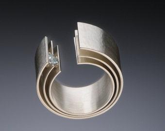 Engulfing Aquamarine Ring