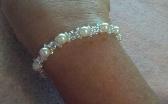 Beautiful Pearl Bracelets, glass pearls and tiny beads
