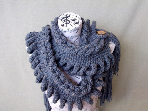 Indigo Fashion-GIFT FOR HER-Wool Scarf Mothers Day perfect Gift- Under 65- For Women -For Girl Friend-Ready to Ship