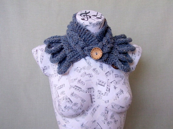 Indigo cowl-GIFT FOR HER-Cowl Mothers Day perfect Gift- For Women -For Girl Friend-Ready to Ship