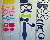 photo booth prop set of 25- wedding photo booth prop set of 25 pieces