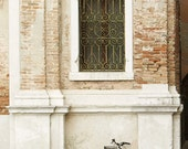 Bicycle under the window - travel -home decor  - neutral fine art print 6x8