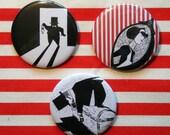 Set - La Governante- 2,21 inch buttons/pins/badges