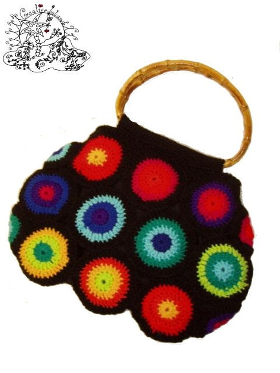 Crochet Rainbow Bag : Crochet Bag RainBoW CirCles by creativeisland on Etsy