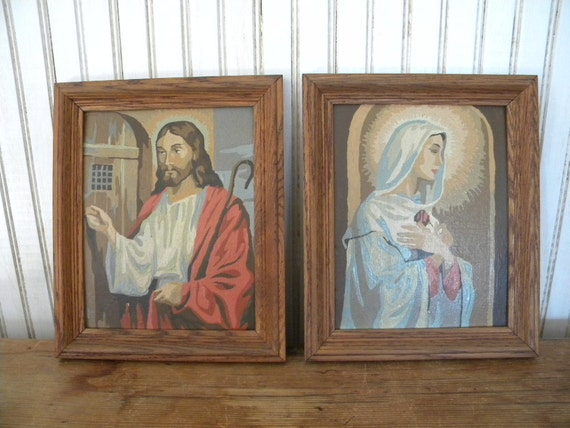 Jesus and Mary Paint by Number Vintage