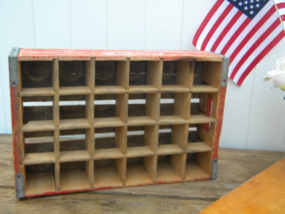 red 24 section vintage Coca- Cola crate