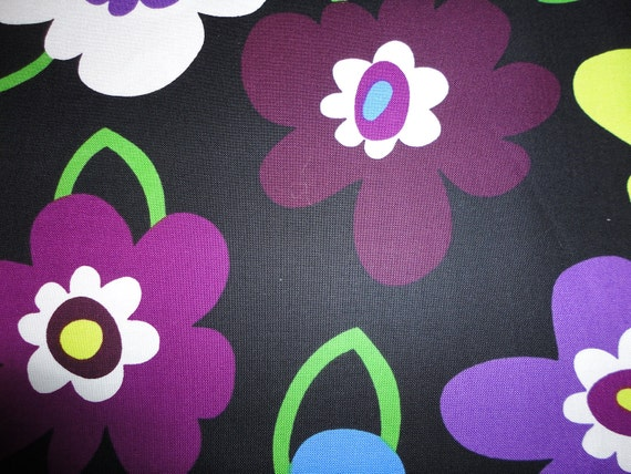 Blossom by Windham Fabrics Black Flower 1 yard