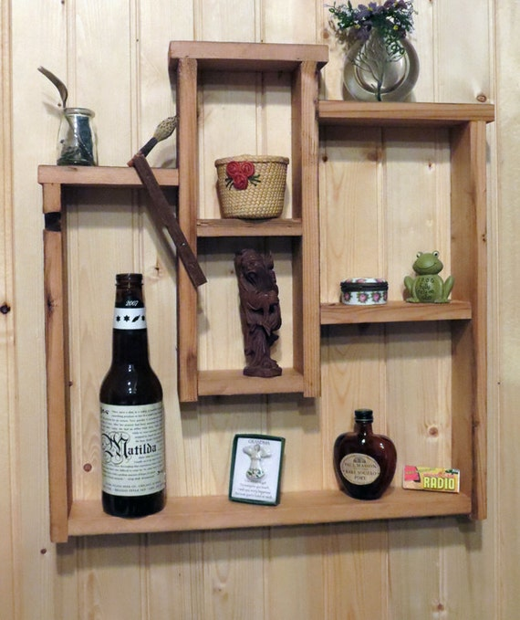 Barn Siding Shadow Box Shelf for Miniatures FREE SHIPPING