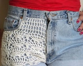 Crocheted Lace High Waisted Shorts--Made to Order