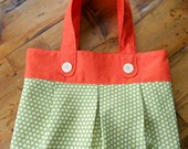 Orange and Daisy Tote Bag